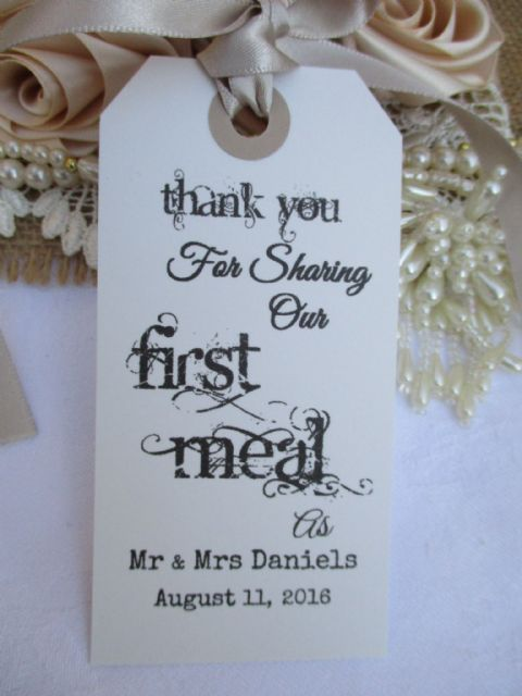 10 Thank You For Sharing Our First Meal Personalized 108 x 54 mm